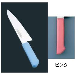マスターコック 抗菌カラー庖丁 洋出刃(片刃) MCDK-240 ピンク MCDK-240 ピンク