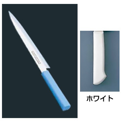マスターコック 抗菌カラー庖丁 柳刃(片刃) MCYK-270 ホワイト MCYK-270 ホワイト