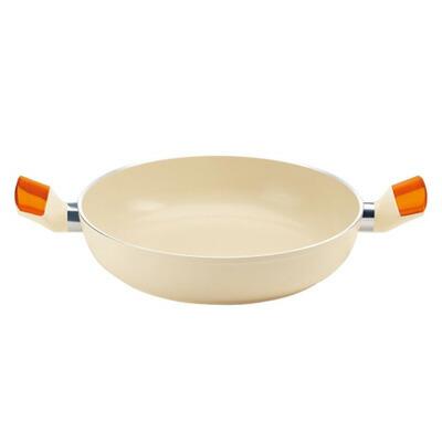 グッチーニ IH セラミックコート浅型両手鍋 24cm2280.1045 OR 2280.1045 24cm/オレンジ
