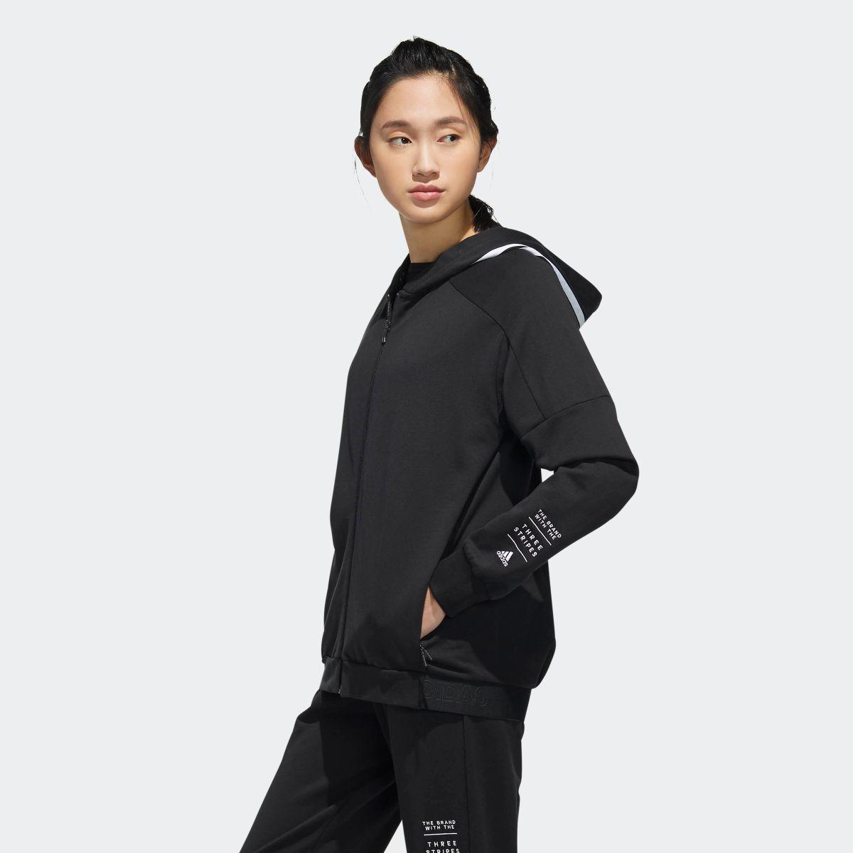ウェア フーディー ヘリンボーン ジャケット DV0622 adidas W ID レディース 【公式】 アディダス トップス