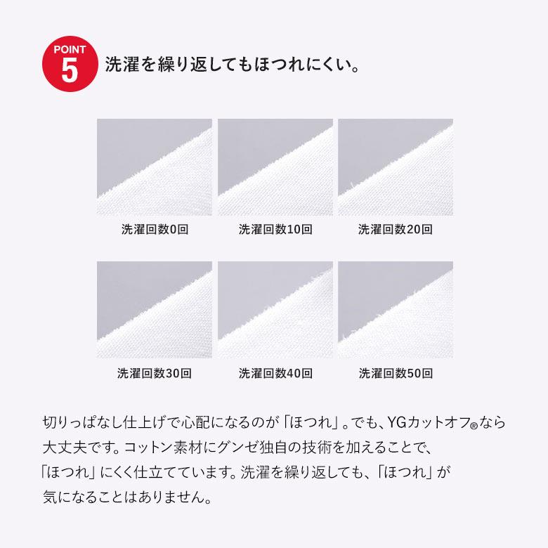 (グンゼ)GUNZE (ワイジー)YG カットオフシリーズ VネックTシャツ