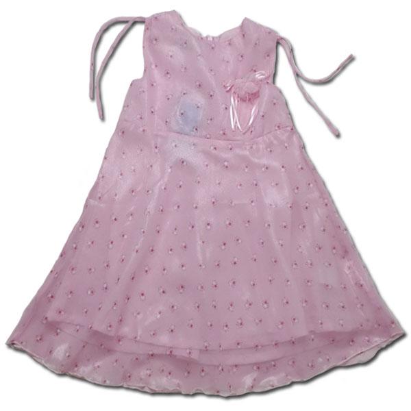 【インポート子供服】お嬢様の気品を纏うフォーマルに映えるオーガンジーのワンピース