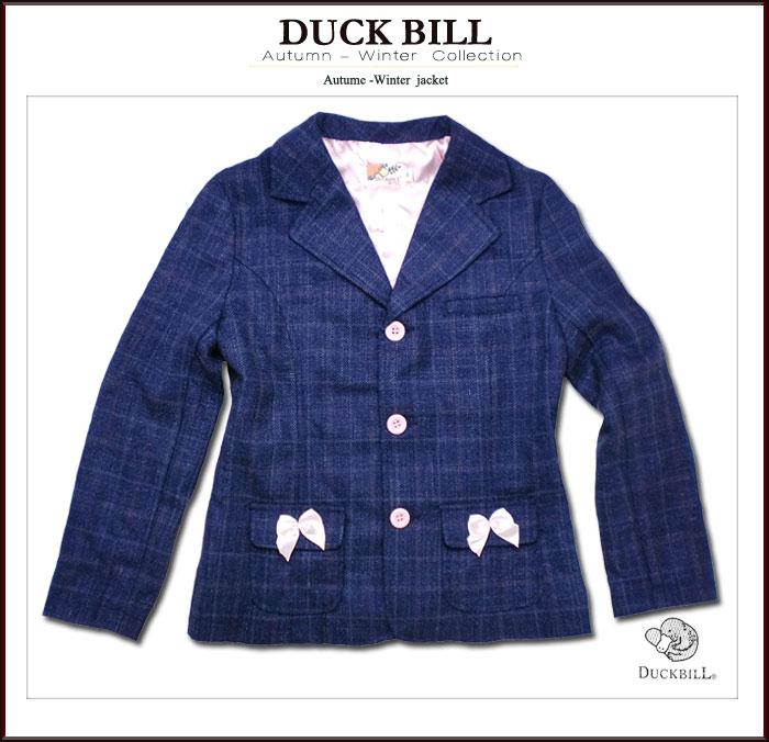 子供服ブランド 女の子サテンリボン付きおでかけ裏地付ジャケット