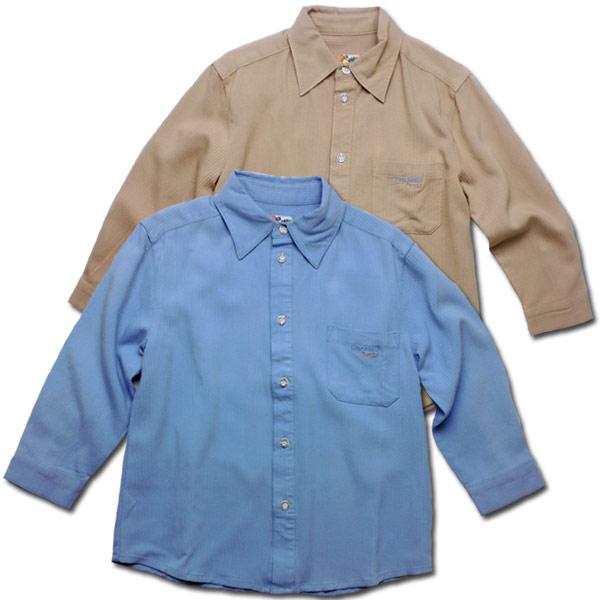 【インポート子供服】カラフルだけど上品で可愛らしい刺しゅう入り長袖シャツで紳士の気品を身に纏う。