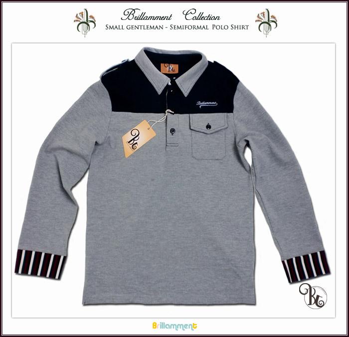 【子供服】 男の子 王子様の普段着 貴族の紋章刺繍入り長袖ポロシャツ(JPBt) 150-170cm  イエロー/グリーン ジュニア