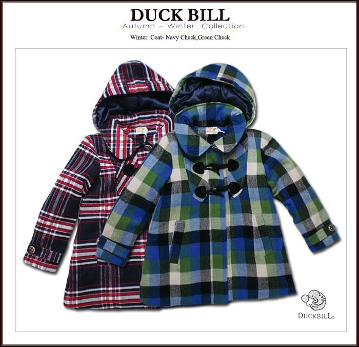 35b5a99513091 ... インポート子供服 中綿入りふんわり暖か!英国テイストのチェック柄ダッフル