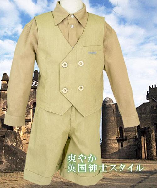 【インポート子供服】シックだけど上品で可愛らしいフォーマルタキシード(ベスト)で紳士の気品を身に纏う。