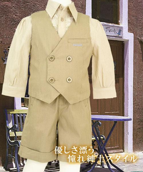 【インポート子供服】シックだけど上品で可愛らしいショートパンツで紳士の気品を身に纏う。