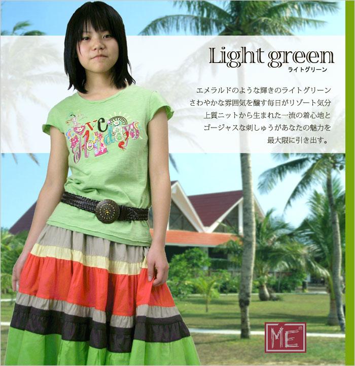 夏に嬉しいリゾートオーソドックスな可愛い短袖Tシャツ 130cm 140cm 150cm 160cm 170cm
