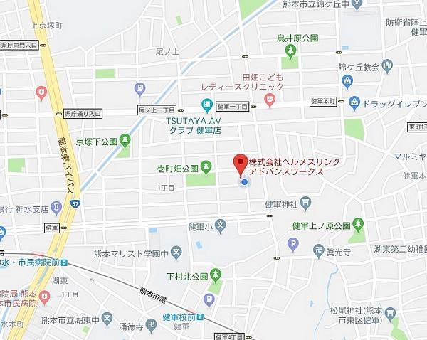 当店への地図