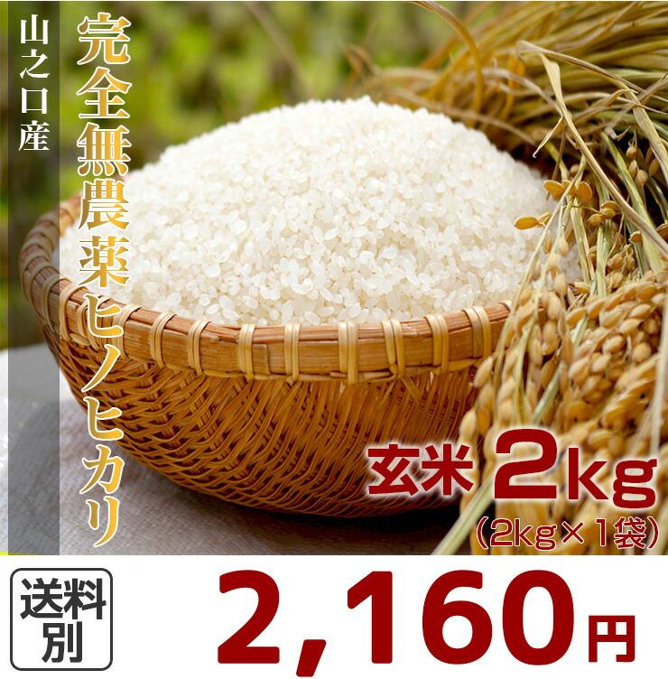 完全無農薬ヒノヒカリ2kg