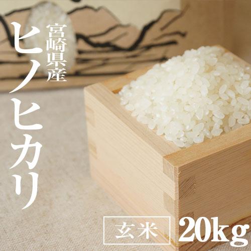 宮崎県産ヒノヒカリ/ひのひかり玄米20kg