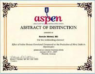 2007年 全米静脈経腸栄養学会(ASPEN)学会賞