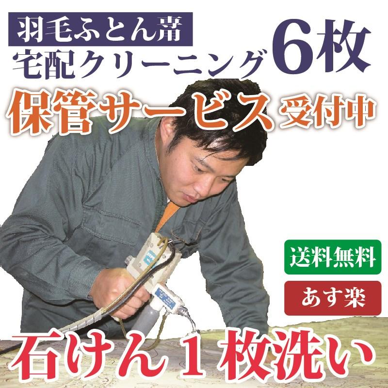羽毛掛け布団専用コース6枚