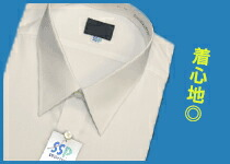 日清紡SSP加工高品質白ワイシャツ