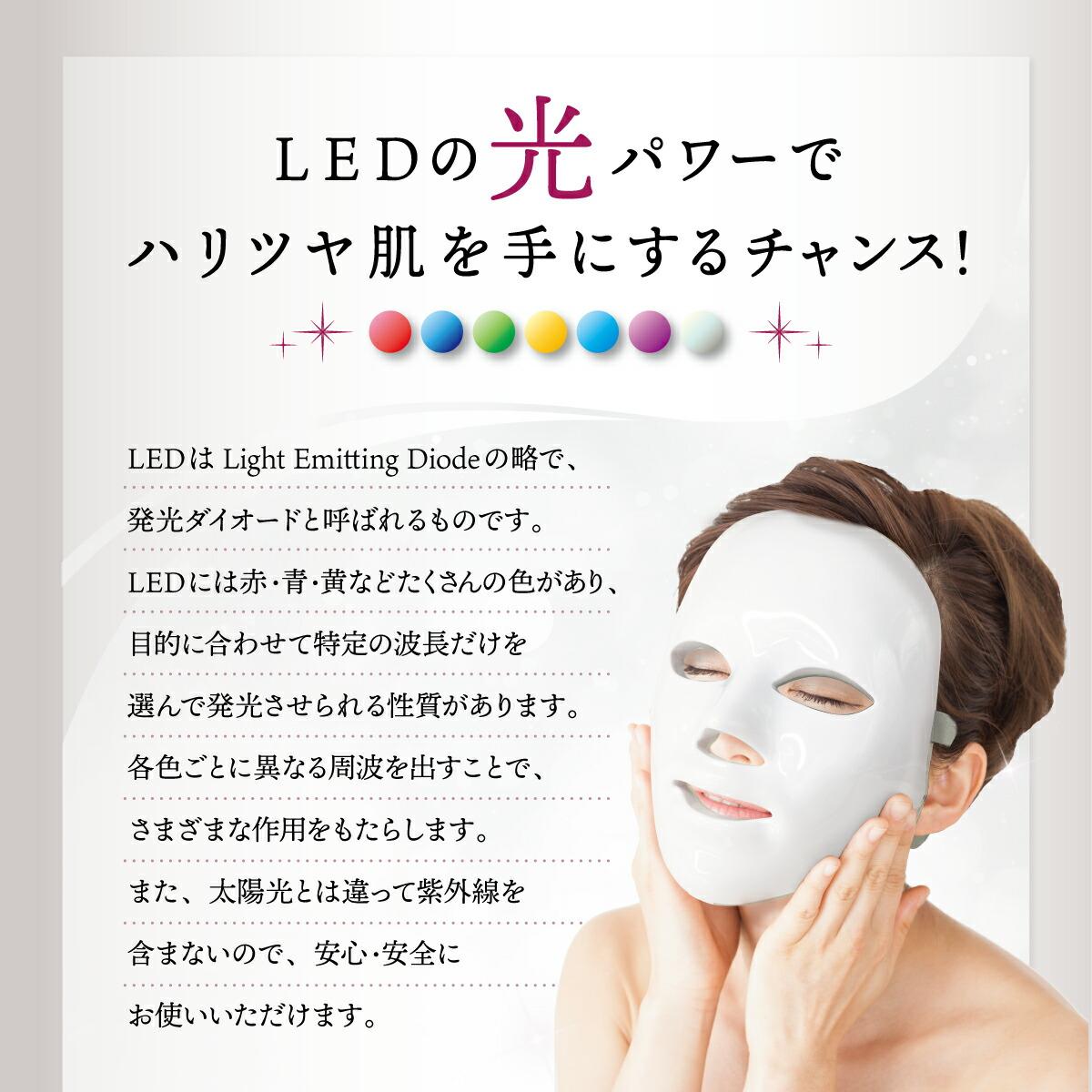 7色LED美容マスク商品画像4