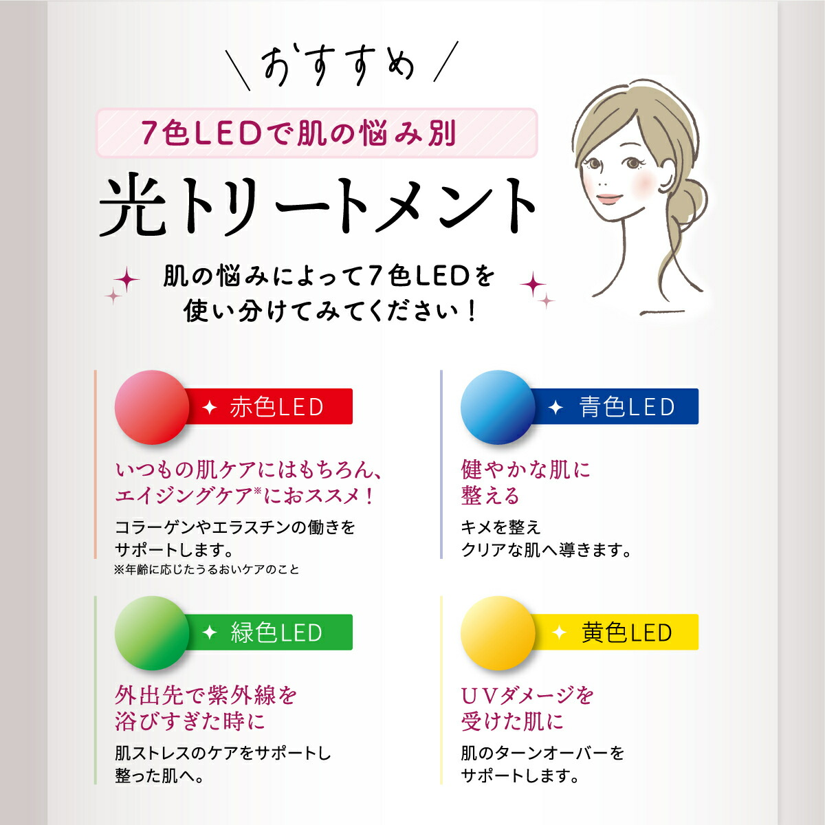7色LED美容マスク商品画像5