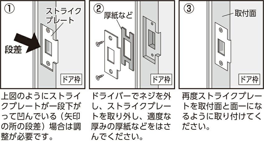 ドア枠の段差