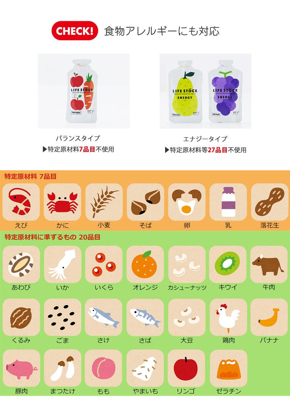 食物アレルギーに対応