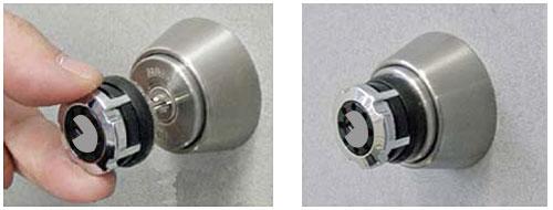 鍵穴カバー式補助錠 キーアウト2
