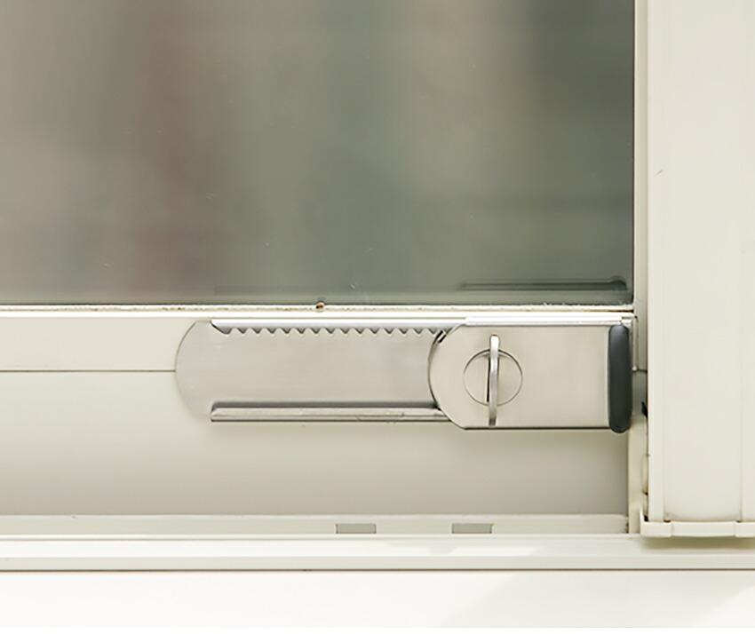 穴開け不要の窓用補助錠