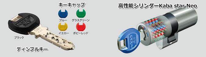 高性能シリンダーKaba star Neoを搭載