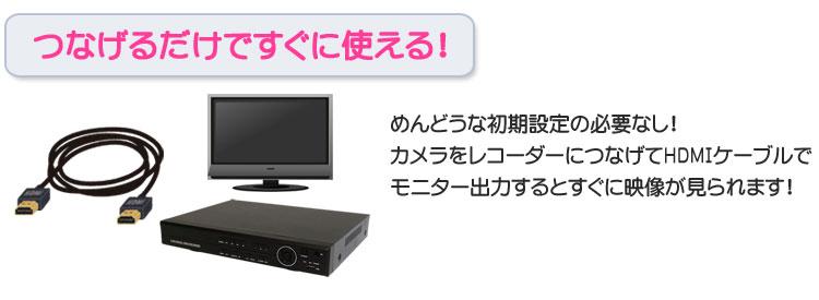 初期設定ナシ!HDMI出力ですぐに使える!