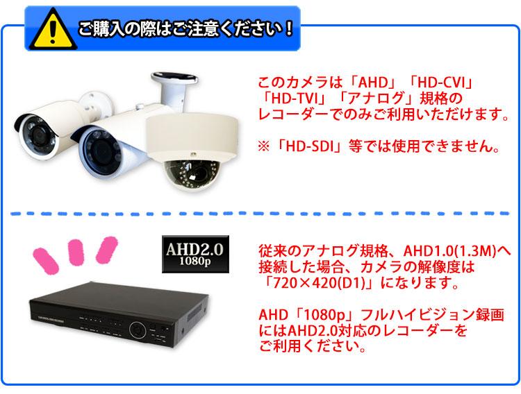 AHD2.0の録画機がフルHD対応です。