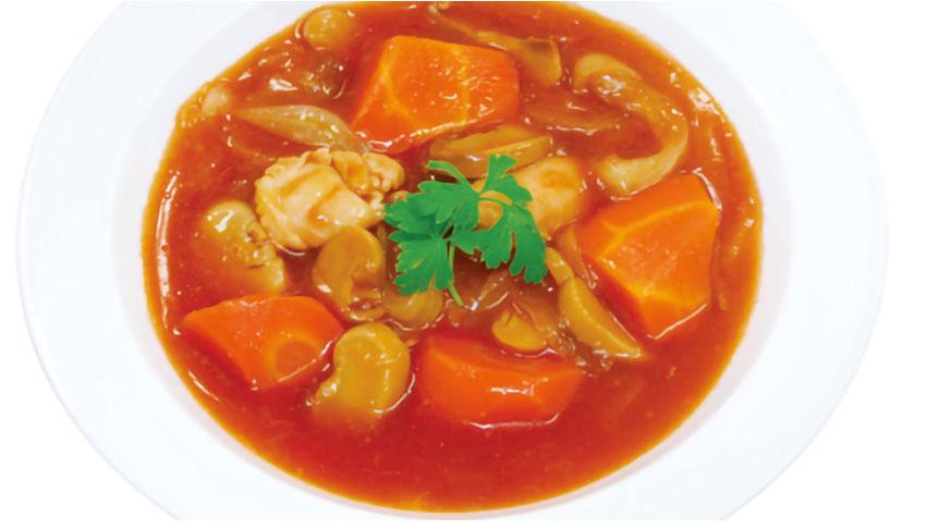 美味しい防災食 鶏と野菜のトマト煮