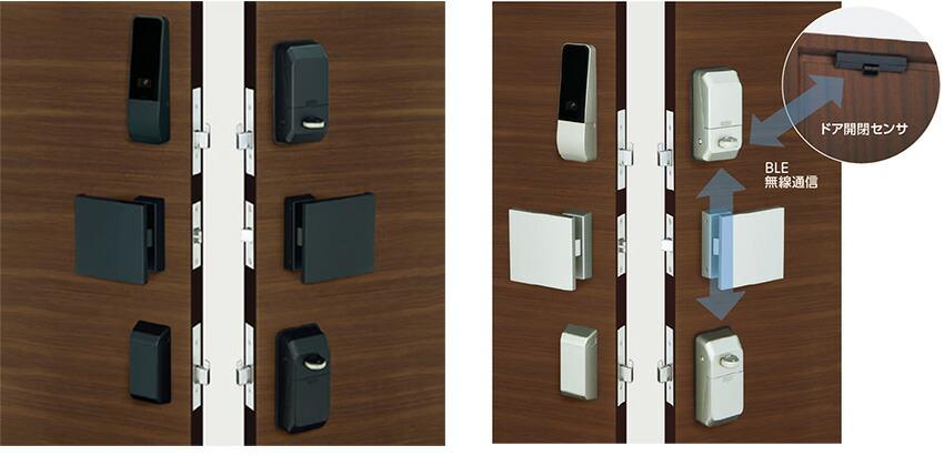 カードとテンキー、2つの認証方式で扉を施解錠