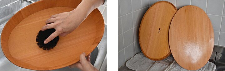 楕円の飯台 お手入れ方法