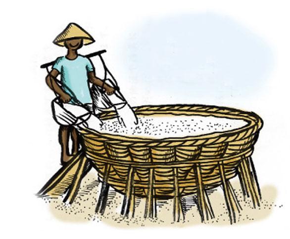 塩田を守るテジャクラ村の天日塩