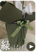 胡蝶蘭のラッピング お供え(うぐいす)