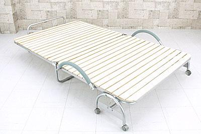 折りたたみ式すのこベッド セミダブルサイズ 207cm幅 簡易ベッド 折りたたみ簀子ベッド 子供部屋にも最適 - エイムキューブ画像1