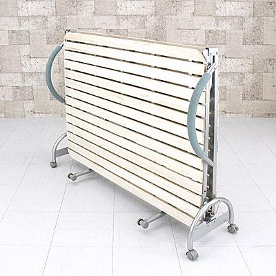 折り畳みベッド セミダブルベッド 天然木製 すのこベッド 折りたたみベッド - aimcube画像2