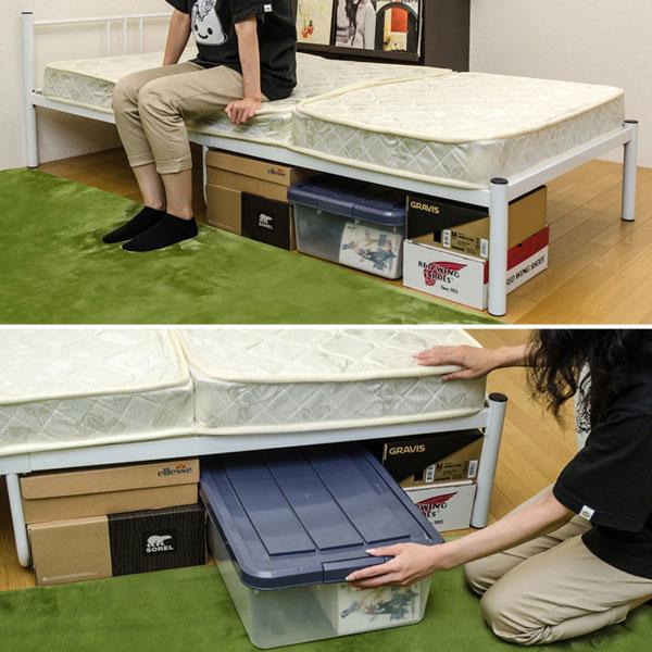 シングルベッド 1人用 パイプベッド 簡易ベッド スチールパイプベッド 耐荷重約80kg - エイムキューブ画像3