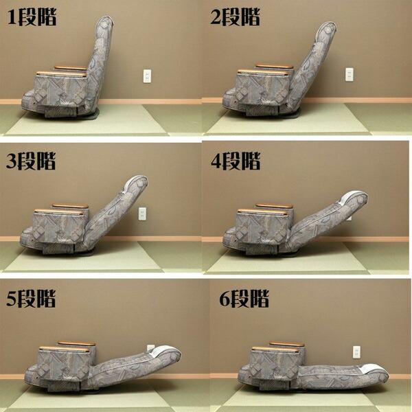 座面回転 和室 イス リクライニングチェア ヘッドカバー付 背もたれ リクライニング - aimcube画像4