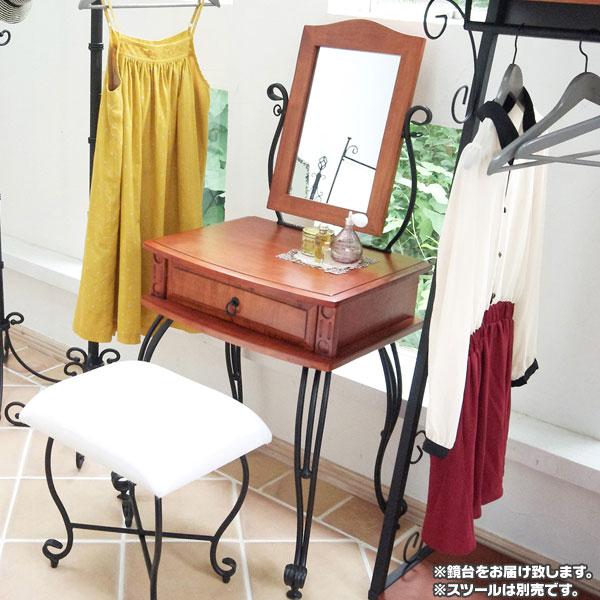 ミラー付 メイク台 椅子 ホワイト ダークブラウン コンセント 搭載 ドレッサー - aimcube画像2