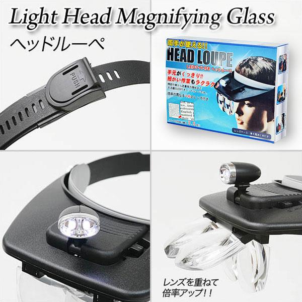 ヘッドライトルーペ 拡大鏡 メガネ ルーペ メガネタイプ LED2灯 - エイムキューブ画像3