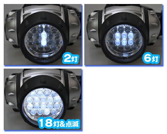 キャンプ用品ヘッドライト ヘルメット用 単四アルカリ乾電池4本付 防災ライト 懐中電灯代わり - aimcube画像2