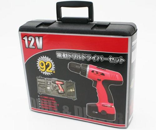 電動ドリルドライバー 12V仕様 92点セット 電動工具セット コードレス電動ドライバー - エイムキューブ画像3