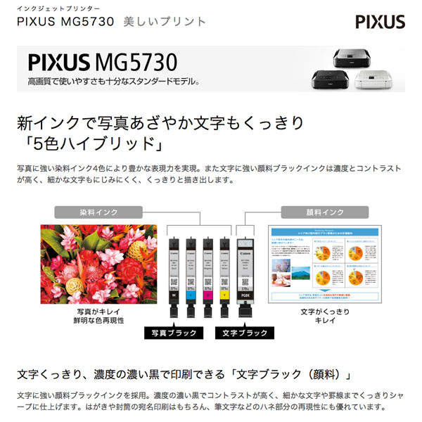 キャノン プリンター ピクサス コピー スキャナ 3色展開 自動両面 2.5型液晶モニタ付き - aimcube画像2