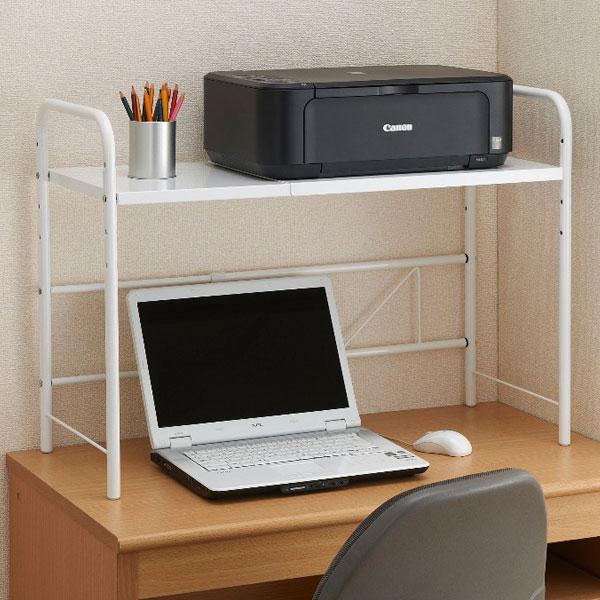 卓上プリンターラック 卓上棚☆上置き棚 幅広タイプ キッチン用小物置き棚 卓上ラック - aimcube画像2