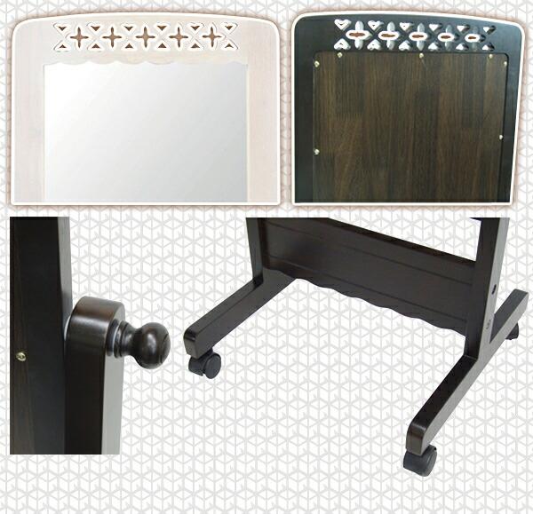 ルームミラー リビングミラー 寝室 鏡 エスニック風 アジアンミラー 高さ157cm - aimcube画像4