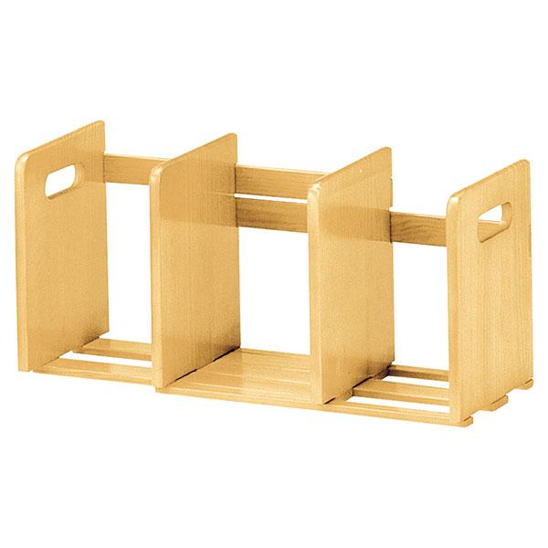天然木製 スライド本立て ブックスタンド マガジンラック 幅33.5から62cm調整可 - エイムキューブ画像3