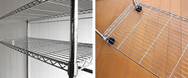 メタルラック幅121cm 不織布カバー付 スチールラック ハンガーラック スーツラック 棚付 - エイムキューブ画像5