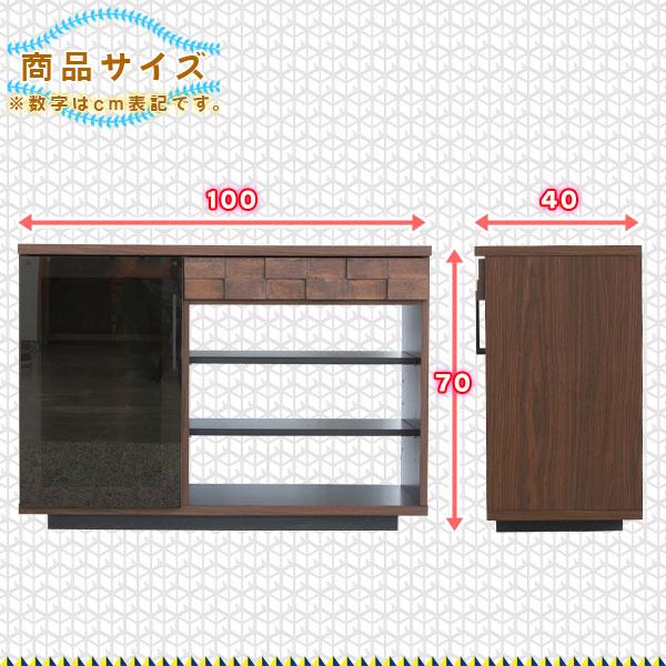 キッチン収納 オープンラック リビング収納 強化ガラス扉 作業台 収納ラック 高さ70cm - aimcube画像4