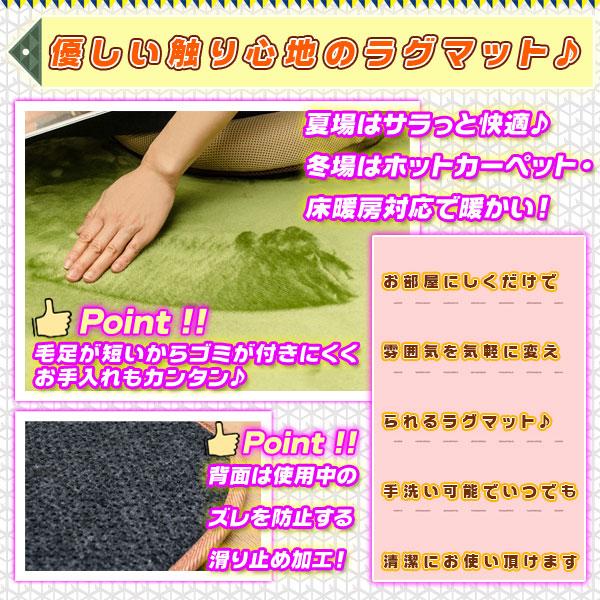 ラグ じゅうたん ホットカーペット対応 丸洗いOK 5色展開 ラグマット お手入れ簡単 - aimcube画像2
