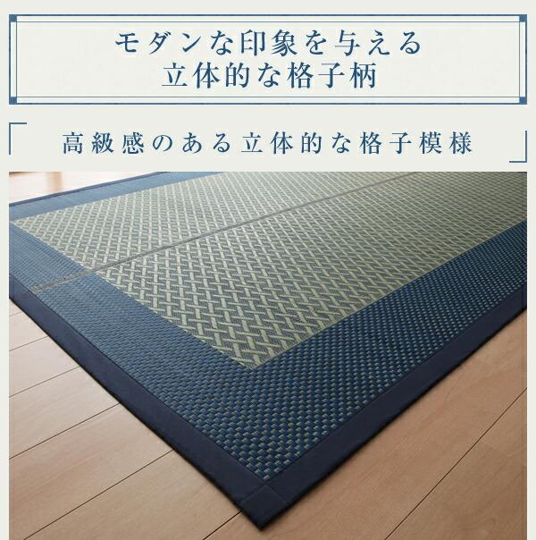 モダン い草 ラグ 幅176cm × 230cm 絨毯 天然エアコン 浄化作用 - エイムキューブ画像3
