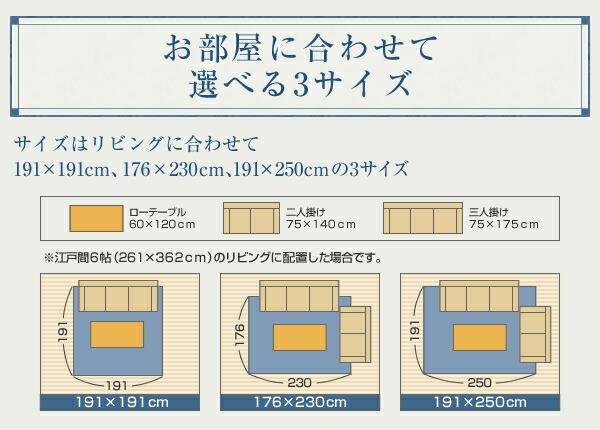 モダン い草 ラグ 幅176cm × 230cm 絨毯 天然エアコン 浄化作用 - エイムキューブ画像9